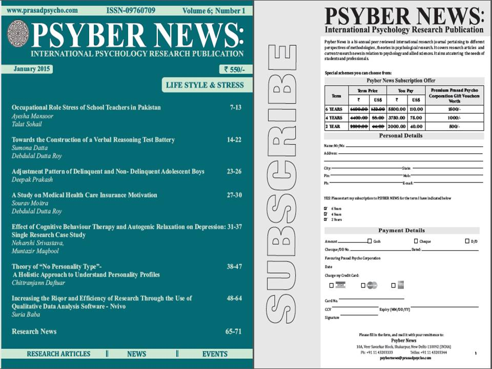psychological research newspaper articles