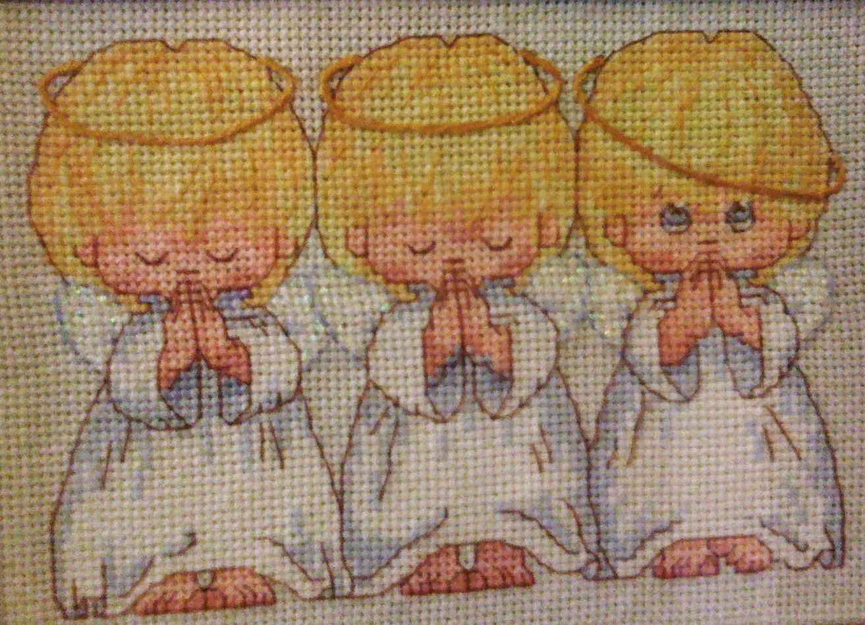 Вышивка три ангела для беременности