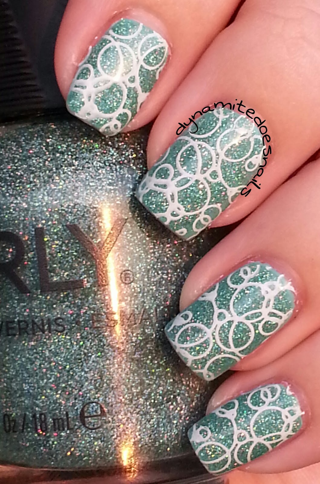 Dynamite Does Nails: Sparkling Garbage Bubbles