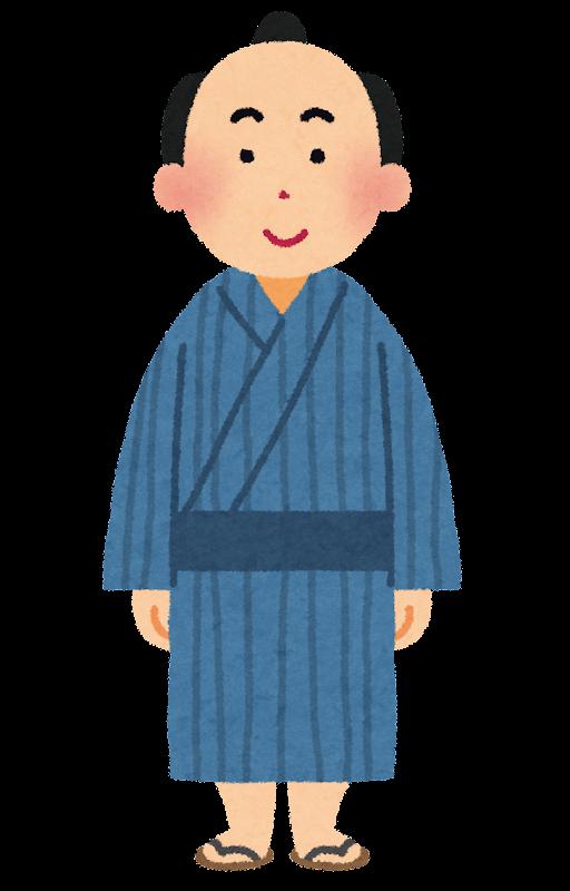 ... の男性の町人のイラストです : 日本地図 イラスト フリー : イラスト