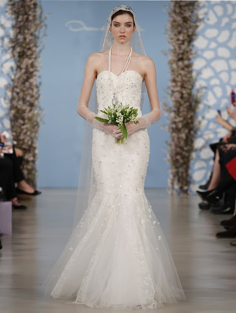 Oscar de la Renta Spring 2014 lace mermaid Wedding Dresses