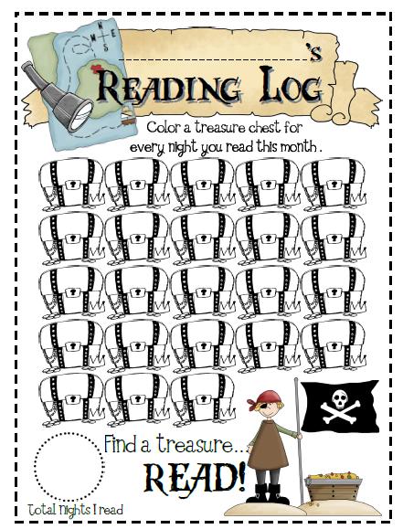 Sailing Through 1st Grade: Reading Log