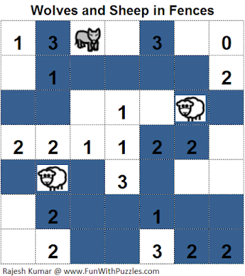 Wolves and Sheep in Fences (Logical Puzzles Series #10) Solution