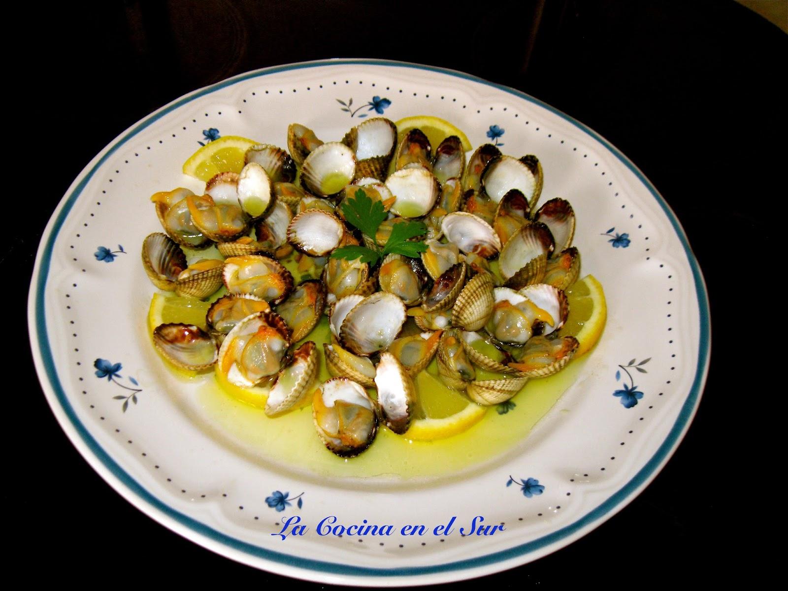 La cocina en el sur berberechos al lim n - Como cocinar berberechos ...