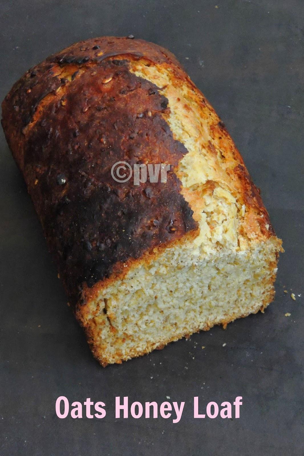 Yeasted oats honey bread,  oats honey bread