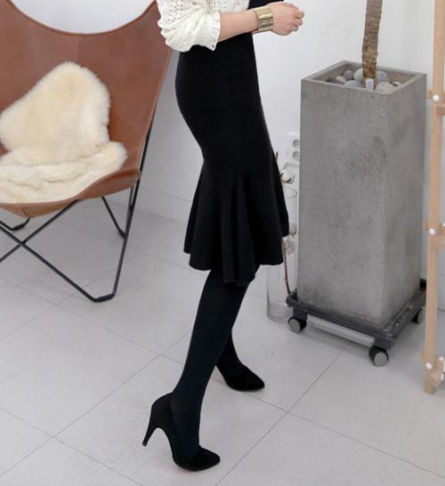Wool Blend Trumpet Skirt