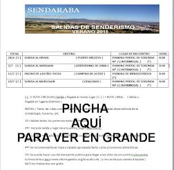 SALIDAS DE SENDERISMO VERANO 2018