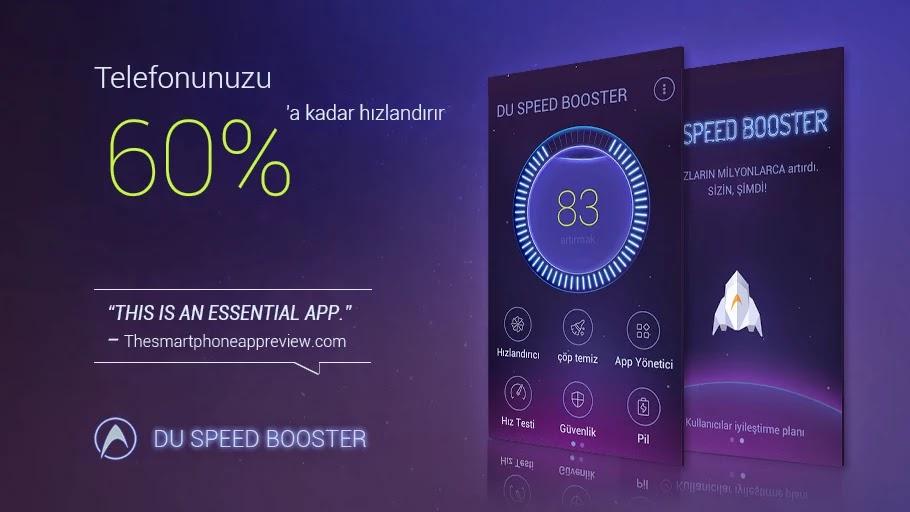 Telefonumu nasıl hızlandırırım, du speed booster