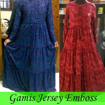 Gamis Jersey Emboss