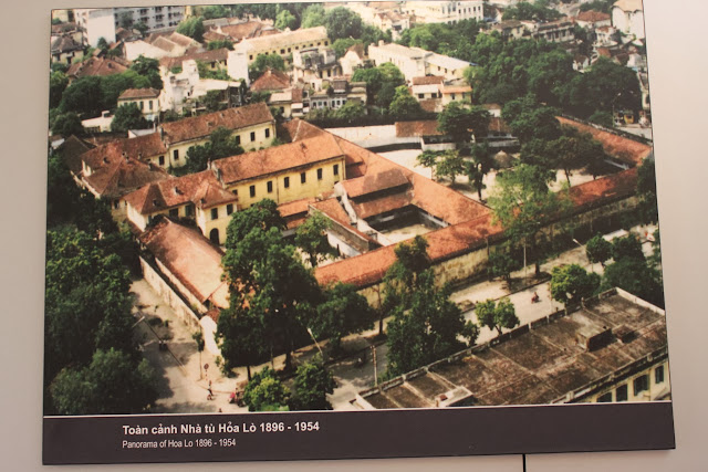 A panaromic view of Maison Centre (Hoa Lu Prison) from top bird's view during the early years in Hanoi, Vietnam