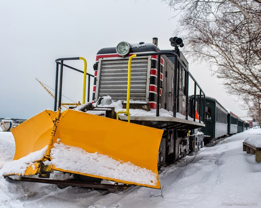 Portland, Maine the Maine Narrow Gauge Railroad on the Eastern Waterfront February 2015 photo by Corey Templeton