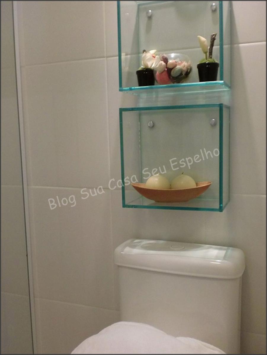 Nossa Casa de Juntados Ideias para banheiro pequeno -> Banheiro Decorado Com Bloco De Vidro
