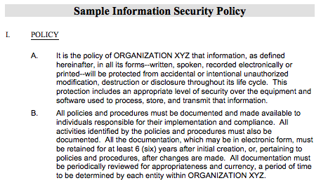S cobb on security for Information system security policy template