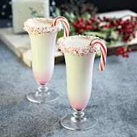 Christmas Candy Cane Bourbon Nog