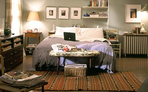 Interior Design- Carrie Bradshaw's apartment pre and post