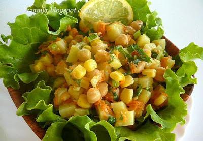 Brza salata od slanutka, kukuruza i varijacije