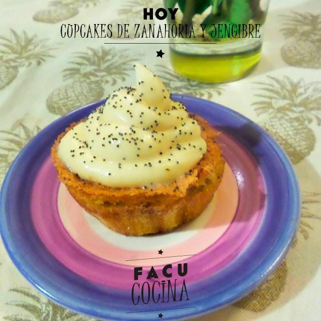 Cupcakes de zanahoria y jengibre