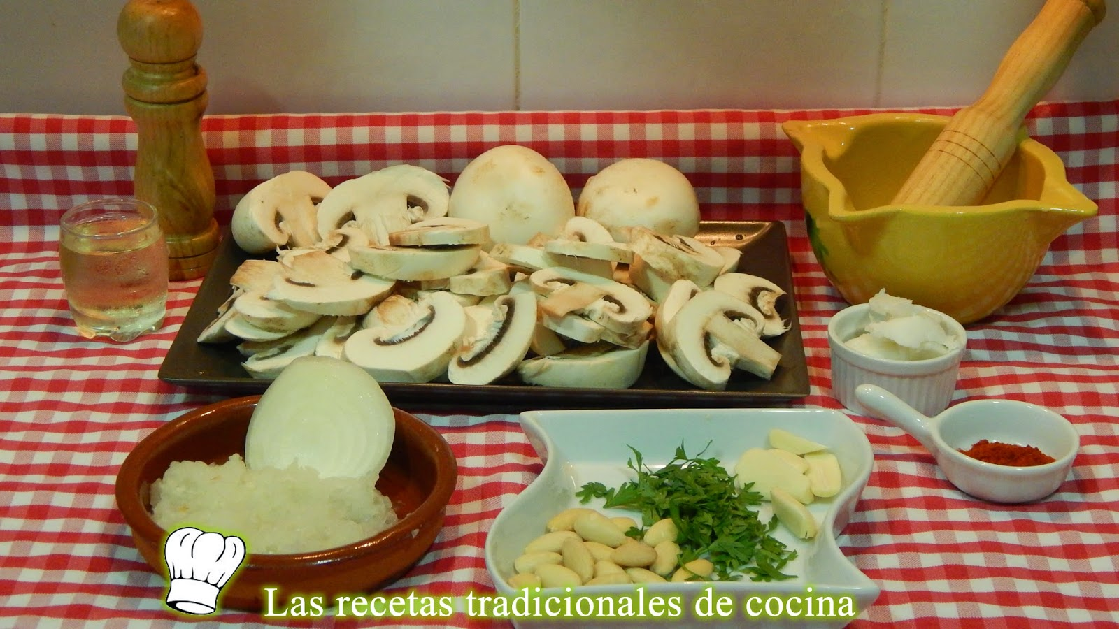 Receta de champiñones a la Andaluza