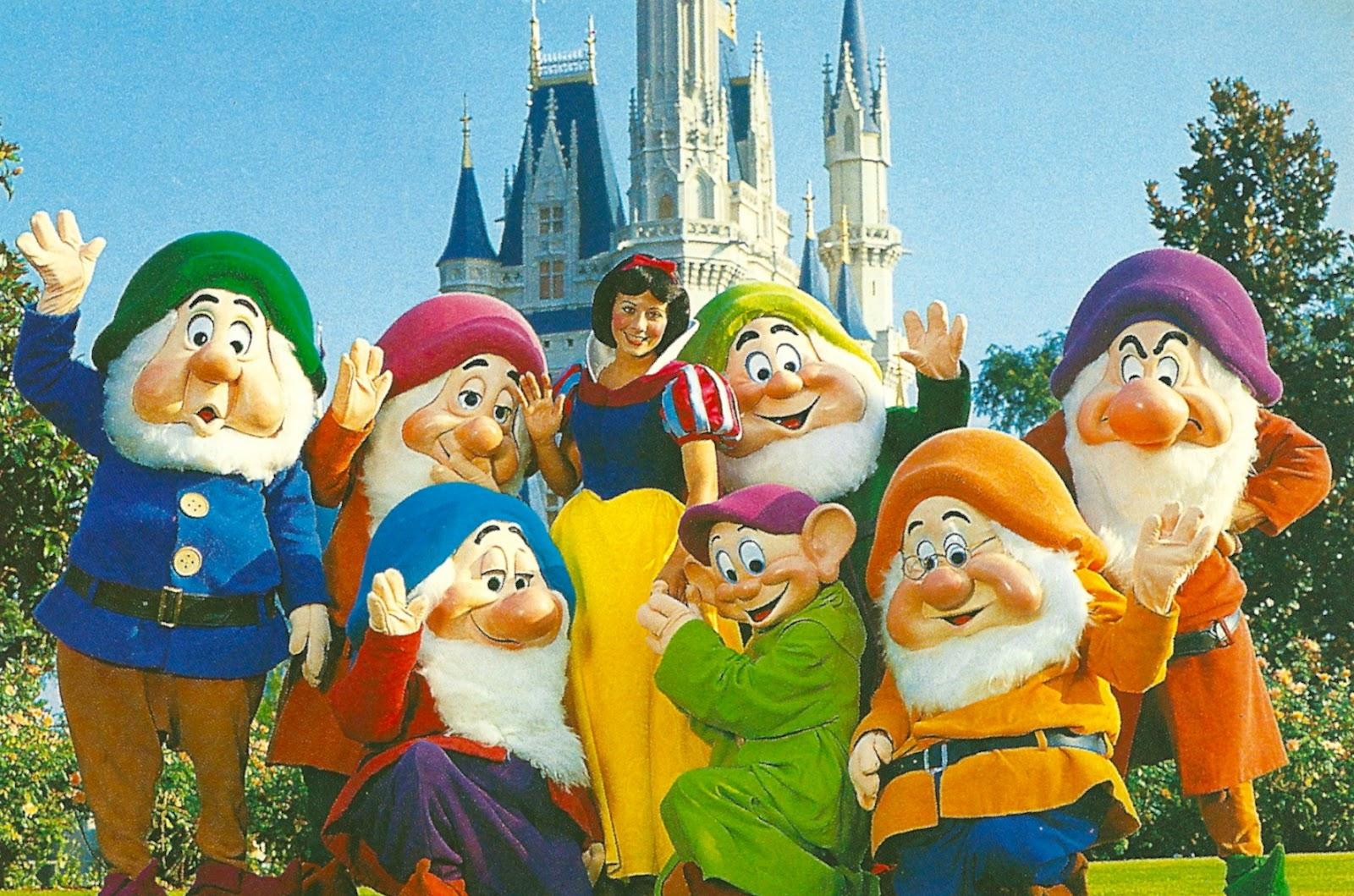 My favorite disney postcards snow white and the seven dwarfs