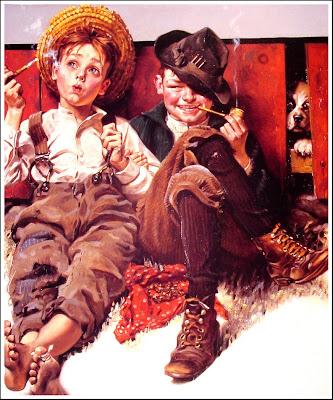 niños retro fumando