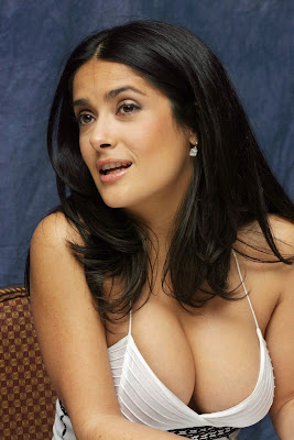 salma hayek breast feeding