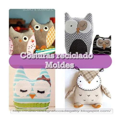 Ideas para el hogar b hos con telas recicladas con moldes - Manualidades de tela para el hogar ...