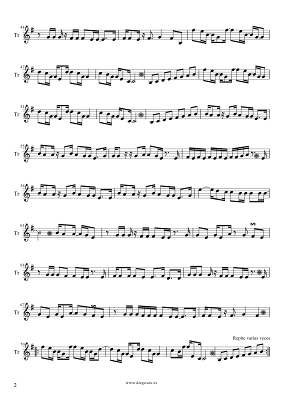 Tubescore Sheet Music Careles Whisper for Trumpet