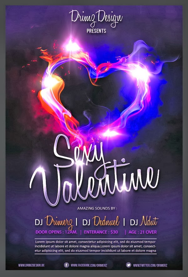 Sexy Valentine Flyer - Photoshop