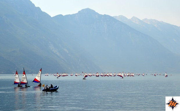 Riva del Garda, specchio di lago antistante la Rocca