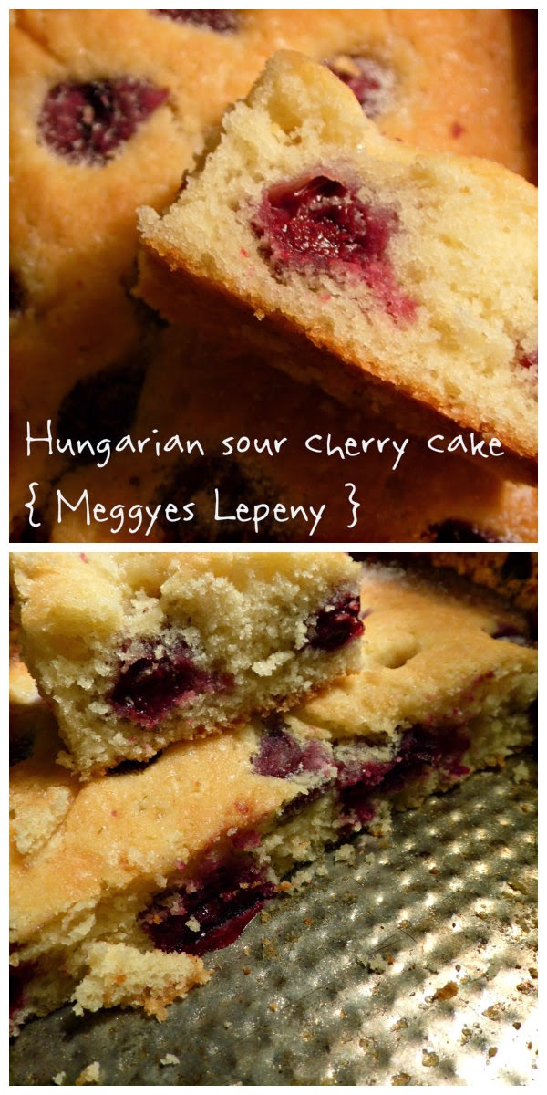 Hungarian Sour Cherry Cake { Meggyes Lepeny }