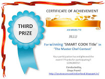 Smart Cook award- Third Prize