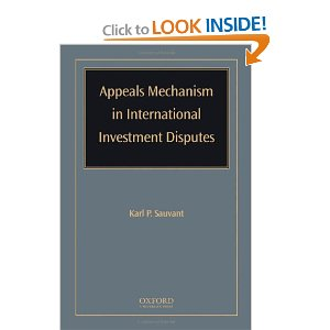 Appeals Mechanism in International Investment Disputes