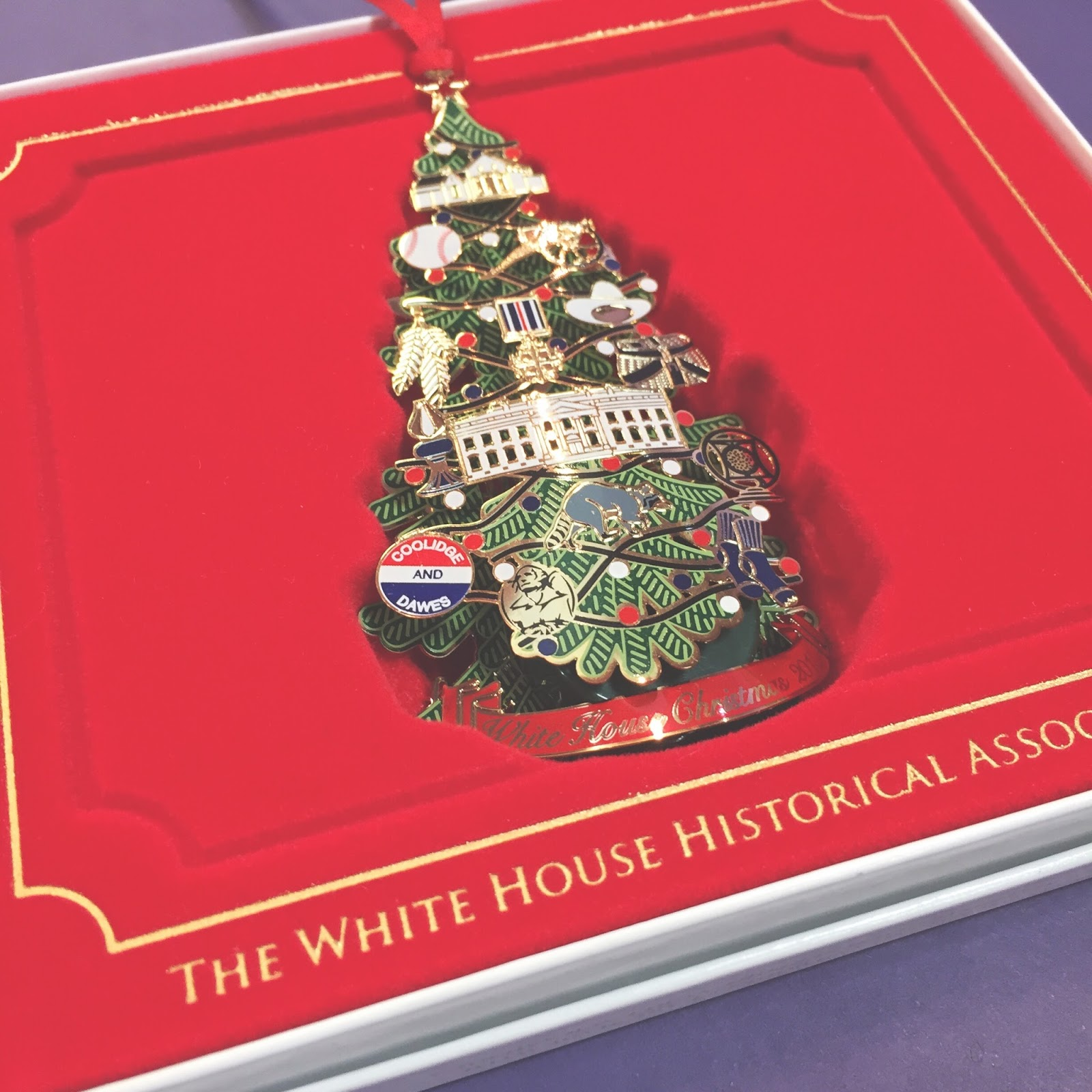White house christmas ornaments by year - The 2015 White House Ornaments Are Here This Year The Ornament Honors The Administration Of President Calvin Coolidge For The First Time