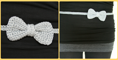 Bow belt crochet pattern - Gratis patroon riem met strikje haken