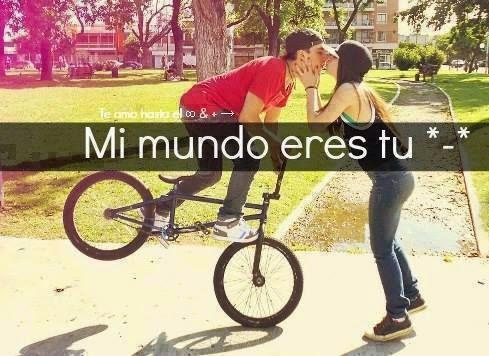 besos bicicleta