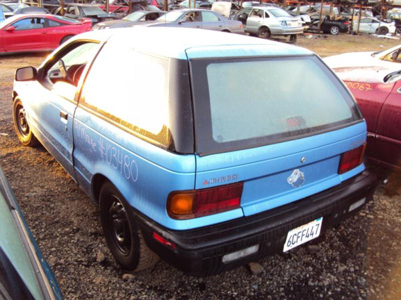 Automotive database mitsubishi mirage 1991 mitsubishi mirage 3 door hatchback rear view fandeluxe Images