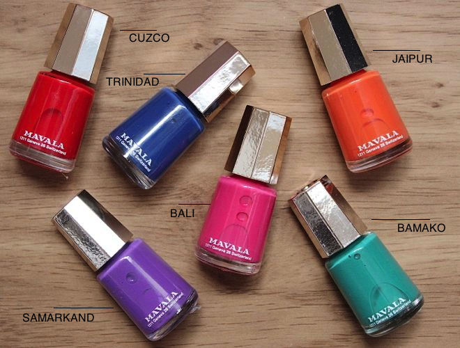 Mavala Nail Polish Chilli and Spice Collection Spring Summer 2013