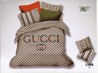 Sprei Katun Jepang Gucci