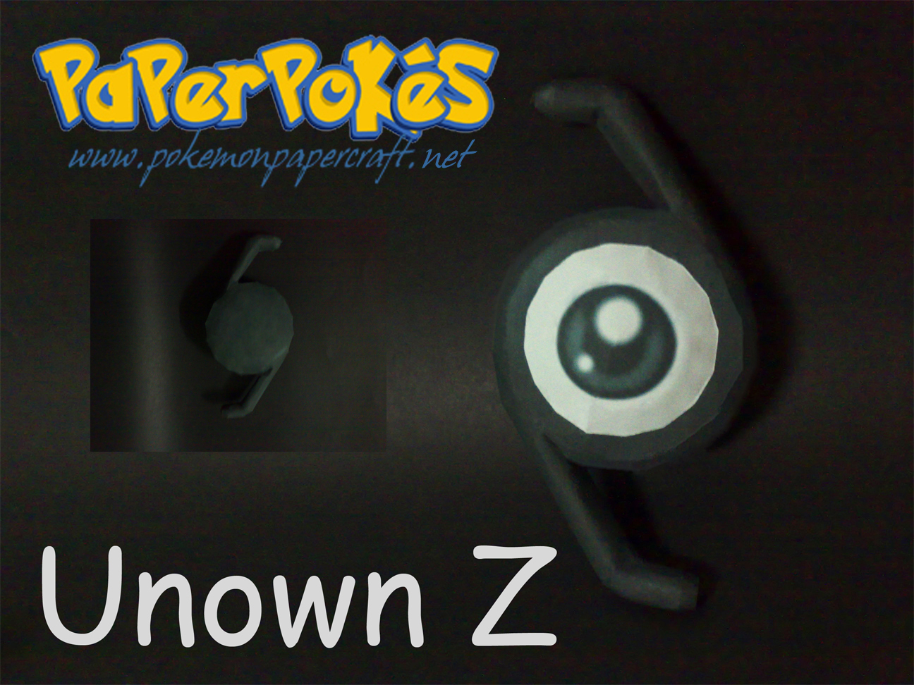 Pokemon Unown Z Papercraft