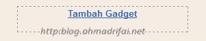 Panduan Pasang Widget Clock Di Blogger (http://blog.ahmadrifai.net)