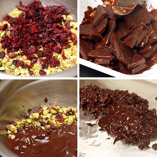 Cranberry Pistachio Dark Chocolate Bark | Skinnytaste