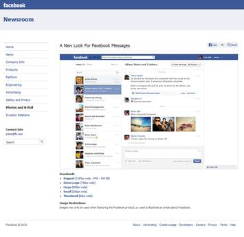 layout messaggi facebook