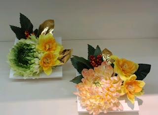 水仙・菊のウォールデコ