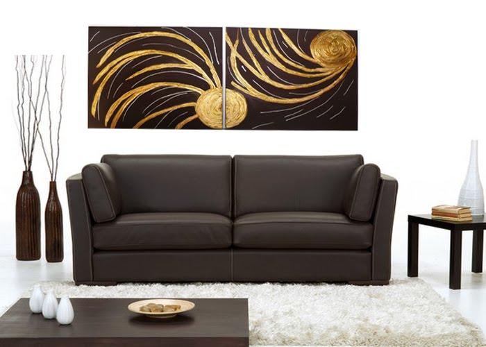Cuadros tripticos texturados cuadro triptico dorados con for Cuadros modernos plateados