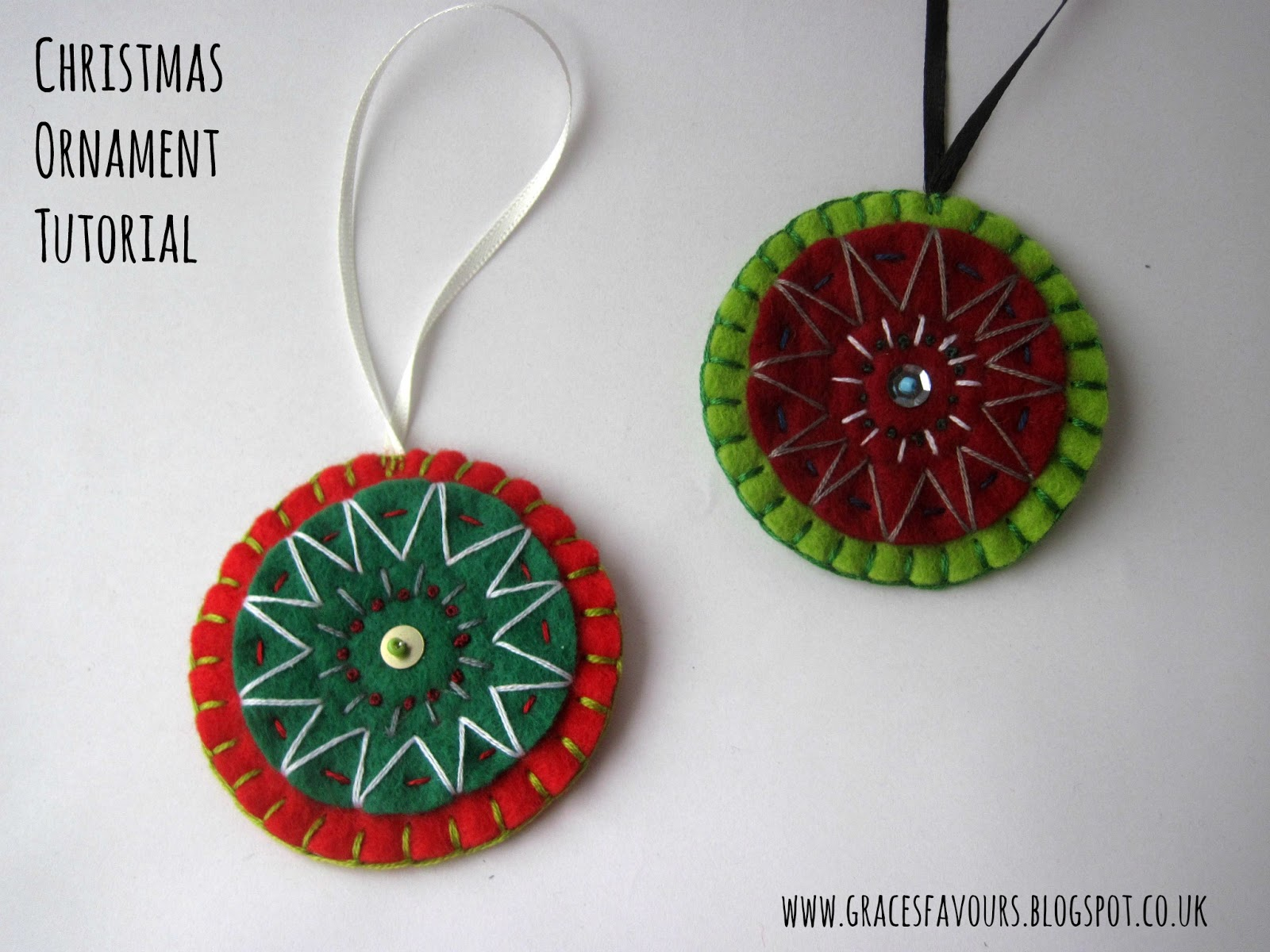 Graces favours craft adventures how to make an easy felt how to make an easy felt christmas ornament sew your own tutorial solutioingenieria Gallery