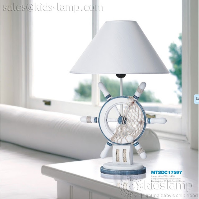 Beach Style Nautical Kids Table Lamps