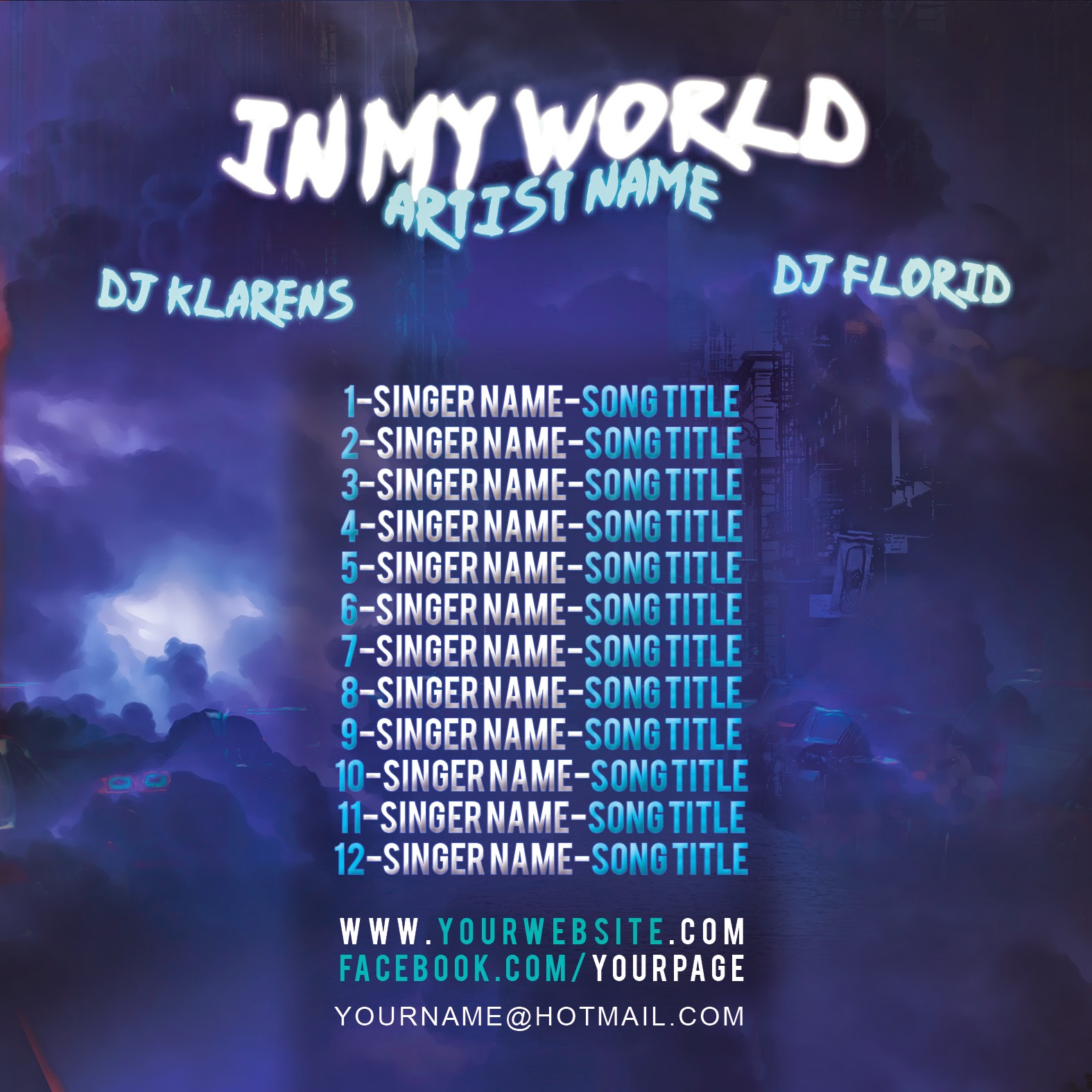 Hip Hop Mixtape Album Cd Cover Free Psd Template Free Templates