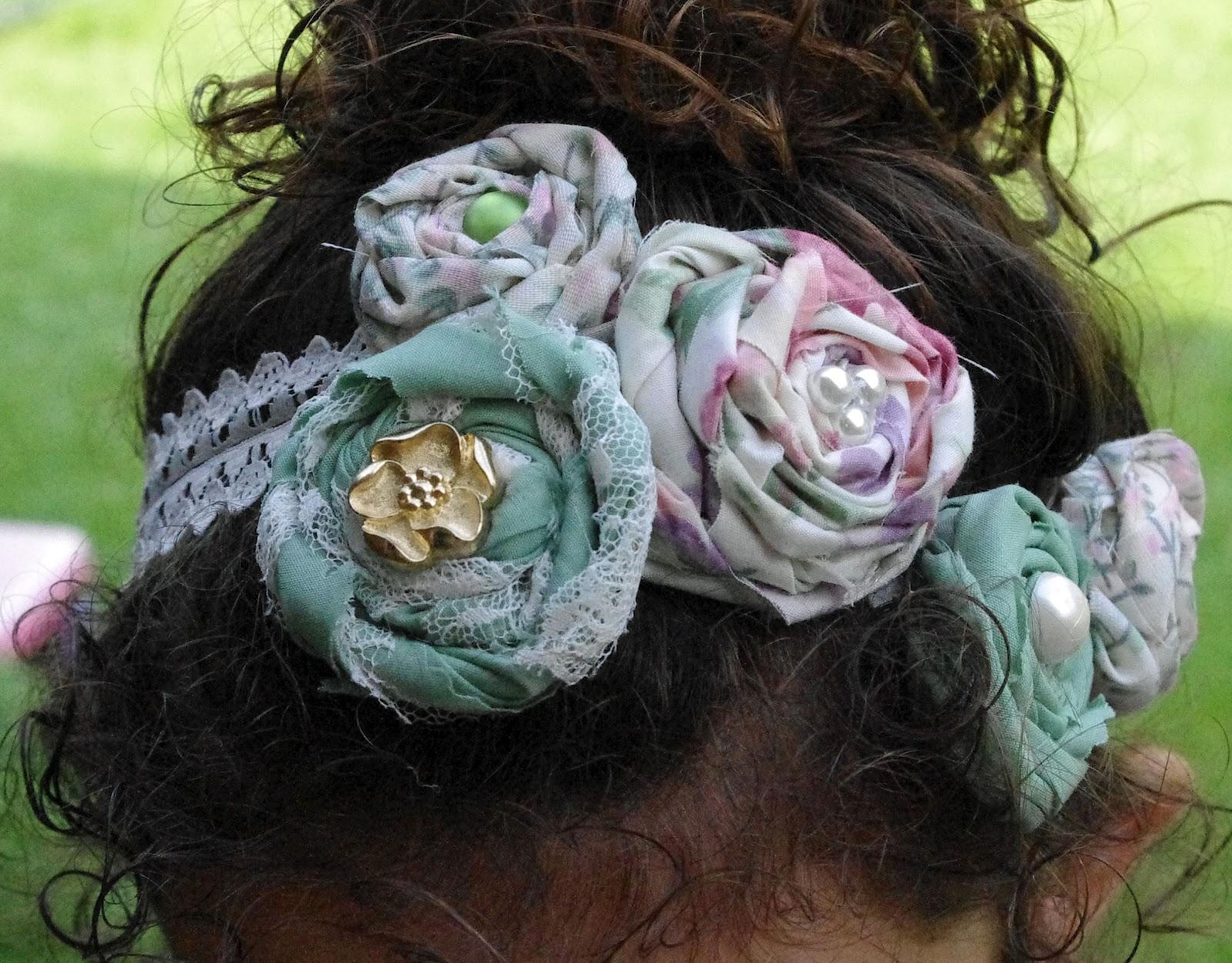 SquigglyTwigs Designs Tuesdays Tute Vintage Flower Headband