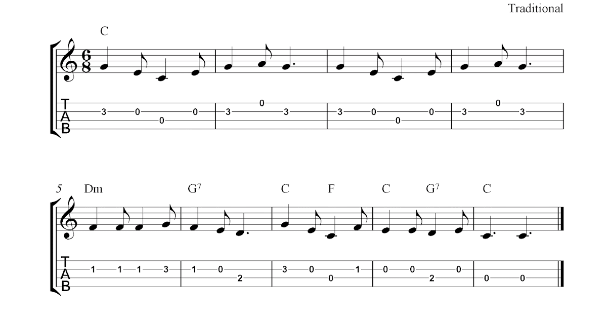 Christ Was Born On Christmas Day, Free Christmas ukulele tabs sheet music