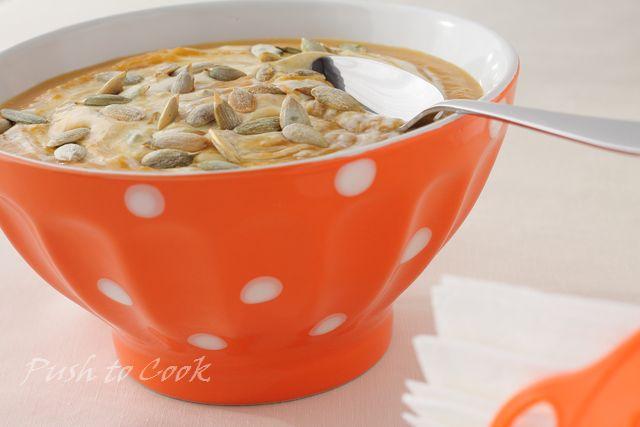 Суп из сладкой тыквы с голубым сыром